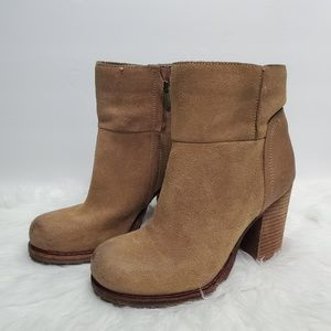 Sam Edelman Franklin Tan Ankle Boots